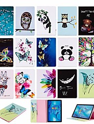 cheap -Case For Huawei Huawei MediaPad M5 10 / Huawei MediaPad M5 8 Wallet / with Stand / Flip Full Body Cases Animal Hard PU Leather for Huawei MediaPad M5 10 (Pro) / Huawei MediaPad M5 10 / Huawei