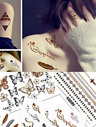 Недорогие -5 pcs Временные тату Временные татуировки богемский Theme / Бабочка Декоративная Искусство тела Корпус / рука / Стикер татуировки