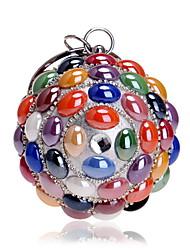 Недорогие -Жен. Мешки Акрил / Сплав Вечерняя сумочка Кристаллы Цвет радуги