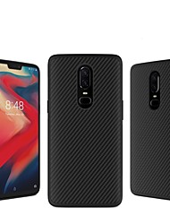 cheap -Case For OnePlus OnePlus 6 Embossed Back Cover Lines / Waves Hard Carbon Fiber for OnePlus 6