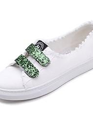 preiswerte -Damen Schuhe Leinwand Sommer Komfort Sneakers Flacher Absatz Runde Zehe Schwarz / Grün / Rosa