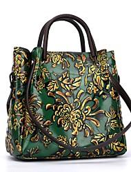 baratos -Sacos de mulheres nappa couro bolsa de ombro com zíper vermelho / marrom / verde