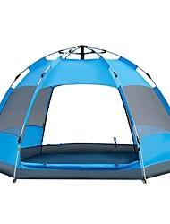 Недорогие -Sheng yuan 4 шт. Туристические палатки На открытом воздухе С защитой от ветра, Дожденепроницаемый, Воздухопроницаемость Двухслойные зонты Автоматический Палатка 2000-3000 mm для