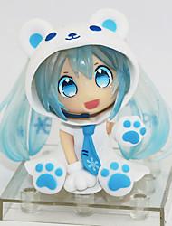 economico -Figure Anime Azione Ispirato da Cosplay Snow Miku PVC 7 cm CM Giocattoli di modello Bambola giocattolo