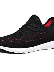 abordables -Homme Chaussures de confort Tissage Volant Printemps Sportif / Simple Chaussures d'Athlétisme Course à Pied Blanc / Noir / Noir / Rouge