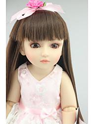 Недорогие -NPKCOLLECTION Кукла с шаром Блайт Кукла Девушка из провинции 18 дюймовый Полный силикон для тела Винил - как живой Искусственная имплантация Коричневые глаза Детские Девочки Игрушки Подарок