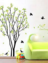 Недорогие -Декоративные наклейки на стены - Простые наклейки Цветочные мотивы / ботанический Гостиная / Спальня / Ванная комната