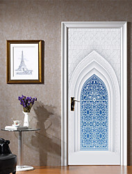 Недорогие -Декоративные наклейки на стены / Дверные наклейки - Простые наклейки / Праздник стены стикеры Религиозная тематика / 3D Гостиная / Спальня