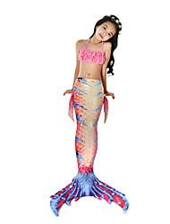 cheap -The Little Mermaid Swimwear / Bikini / Costume Girls' Halloween / Carnival Festival / Holiday Halloween Costumes Pink Mermaid Vintage