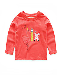Недорогие -Дети / Дети (1-4 лет) Мальчики С принтом Длинный рукав Футболка