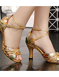 cheap -Women's Latin Shoes PU(Polyurethane) Heel Thick Heel Dance Shoes Gold