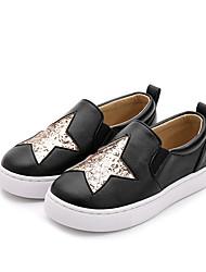abordables -Fille Chaussures Microfibre Printemps & Automne Confort Basket pour Enfants Noir / Amande