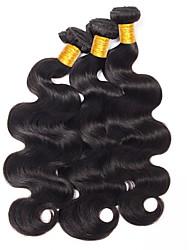 abordables -Lot de 3 Cheveux Indiens Ondulation naturelle 8A Cheveux Naturel humain Cheveux humains Naturels Non Traités Extension Bundle cheveux One Pack Solution 8-28 pouce Naturel Couleur naturelle Tissages