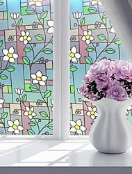 cheap -Window Film & Stickers Decoration Ordinary Geometric PVC(PolyVinyl Chloride) Window Sticker