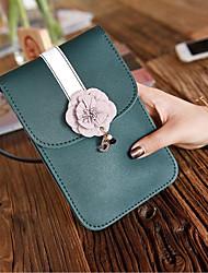 Недорогие -Жен. Молнии PU Мобильный телефон сумка Черный / Светло-серый / Розовый