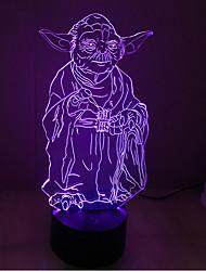 Недорогие -1шт 3D ночной свет USB Для детей / Творчество / Сенсорный датчик