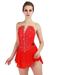 economico -Vestito da pattinaggio artistico Per donna Pattinaggio sul ghiaccio Vestiti Rosso / Blu marino scuro Elastene, Filati elastici Elasticizzato Prestazioni / Professionale Vestiti da pattinaggio sul