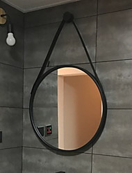 abordables -Miroir Miroir Moderne contemporain Métal 1pc - Miroir Salle de bain