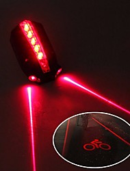 Недорогие -огни безопасности / задние фонари Светодиодная лампа Велосипедные фары Велоспорт Водонепроницаемый, Регулируется, Cool 50 lm 2 батареи AAA Красный Велосипедный спорт