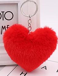 Недорогие -Сердце Брелок Красный / Зеленый / Розовый Геометрической формы Кроличий мех, Сплав Обычные, Мода Назначение Повседневные / Свидание