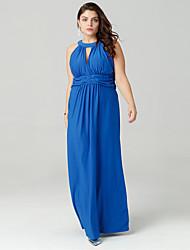זול -קולר / סירה מתחת לכתפיים מקסי אחיד - שמלה נדן רזה סגנון רחוב ליציאה בגדי ריקוד נשים / סקסית