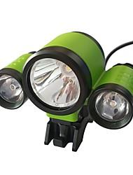 Недорогие -ismartdigi i-56A Налобные фонари Фары для велосипеда Светодиодная лампа излучатели с батареей, зарядным устройством и адаптером Портативные