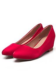 お買い得  -女性用 靴 スエード 夏 バレリーナ フラット ローヒール ブラック / レッド / ブルー