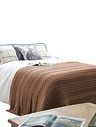Недорогие -Одеяла, Полоски Акриловые волокна Сгущать одеяла