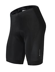 Недорогие -Nuckily Муж. Велошорты с подкладкой Велоспорт Шорты с защитой / Нижняя часть Быстровысыхающий Однотонный Полиэстер, Спандекс Черный Средний уровень Одежда для велоспорта / Слабоэластичная