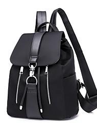 Недорогие -Универсальные Мешки Нейлон рюкзак Однотонные Черный