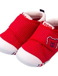 Недорогие -Мальчики Обувь Сетка Лето Обувь для малышей На плокой подошве На липучках для Дети (1-4 лет) Красный / Синий / Розовый