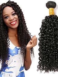 Недорогие -3 Связки Индийские волосы Кудрявый 8A Натуральные волосы Человека ткет Волосы Пучок волос 8-28 дюймовый Естественный цвет Ткет человеческих волос Лучшее качество Горячая распродажа Cool