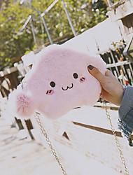 Недорогие -Жен. Мешки Искусственный мех Мобильный телефон сумка Пом пом Черный / Розовый / Серый