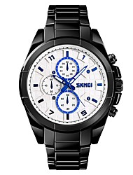 cheap -SKMEI Men's / Couple's Sport Watch / Dress Watch Chinese Water Resistant / Water Proof / Cool / Large Dial Stainless Steel / Alloy Band Luxury / Fashion Black / Silver / Gold