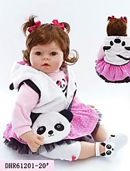 Недорогие -NPKCOLLECTION Куклы реборн Девочки 20 дюймовый как живой, Искусственная имплантация Коричневые глаза Детские Девочки Подарок