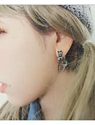 cheap -Women's Stylish / 3D Front Back Earrings / Ear Jacket - Cat Stylish, Unique Design, Punk Black / Silver For Daily / Street