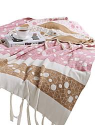 Недорогие -Супер мягкий, Активный краситель Полоски / В точечку Хлопок одеяла