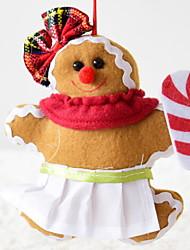 Недорогие -Рождественский декор Праздник Хлопковая ткань Квадратный Оригинальные Рождественские украшения