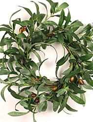baratos -Guirlandas / Decoração Férias De madeira / PVC Redonda de madeira / Novidades Decoração de Natal