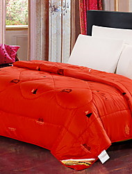 cheap -Comfortable - 1pc Comforter Winter Feather Solid Colored