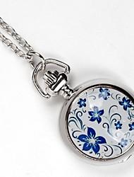Недорогие -Для пары Карманные часы Кварцевый Серебристый металл Милый Аналого-цифровые Винтаж - Серебряный