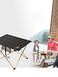 cheap -Camping Table Outdoor Portable, Lightweight, Collapsible Aluminium for Fishing / Hiking / Beach Black