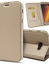 preiswerte -Hülle Für Samsung Galaxy A8 2018 / A5(2017) Geldbeutel / Kreditkartenfächer / Stoßresistent Ganzkörper-Gehäuse Solide Hart PU-Leder für A5(2018) / A7(2018) / A3 (2017)