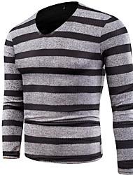 cheap -men's long sleeve pullover - striped v neck