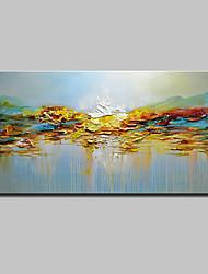 preiswerte -Hang-Ölgemälde Handgemalte - Abstrakt / Landschaft Modern Segeltuch