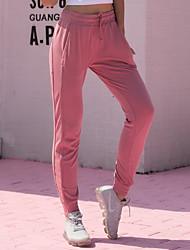 baratos -Mulheres Cintura elástica / Com Cordão / Harém Calças de Corrida - Azul, Rosa claro, Cinzento Esportes Côr Sólida Calças Ioga, Dança, Fitness Roupas Esportivas Respirável, Secagem Rápida, Macio Com
