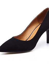 povoljno -Žene Cipele Brušena koža Proljeće Udobne cipele Cipele na petu Stiletto potpetica Crn / Plava / Pink