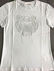 billige -mænds t-shirt - solid farvet rund hals