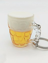 cheap -Cup Keychain Yellow Irregular Acrylic, Alloy Casual, Fashion For Daily / Street