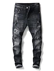 baratos -Homens Moda de Rua Jeans Calças - Sólido